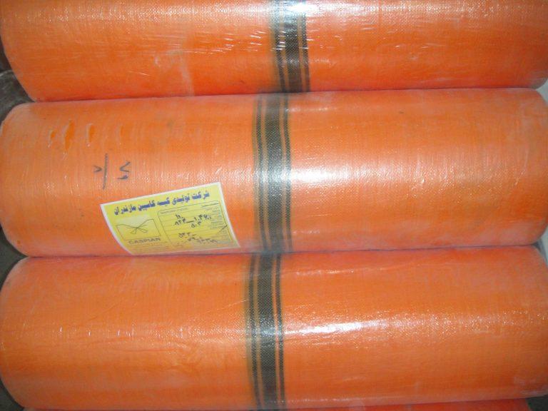 رول عرض 110 نارنجی خط وسط مشکی